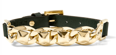 Valentino Bracelet available on http://www.mrporter.com/en-us/mens/valentino/stud-link-metal-and-leather-bracelet/410233