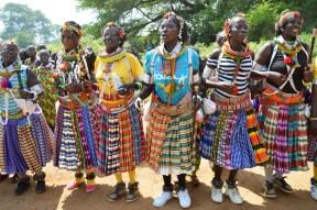 Toposa women dance welcoming State governor Lobong Lojore of Namoronyang at Kapoeta 4 Jan 16 (2)