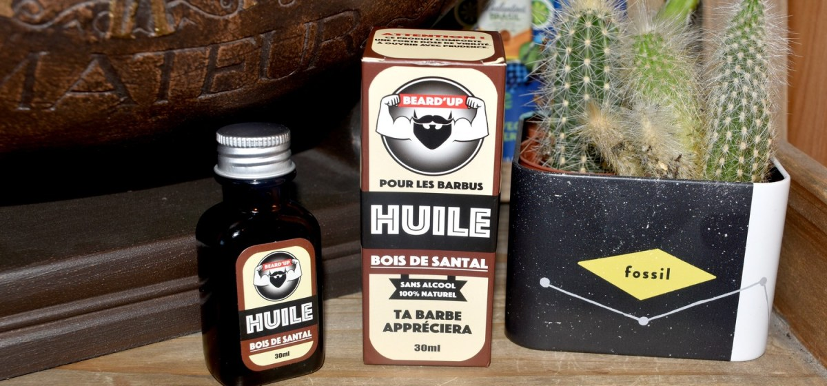 Huile à barbe Bois de Santal Beard'Up