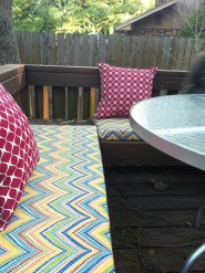 "Literally ""decked out"" my deck with colors and patterns and comfort. My happy place."