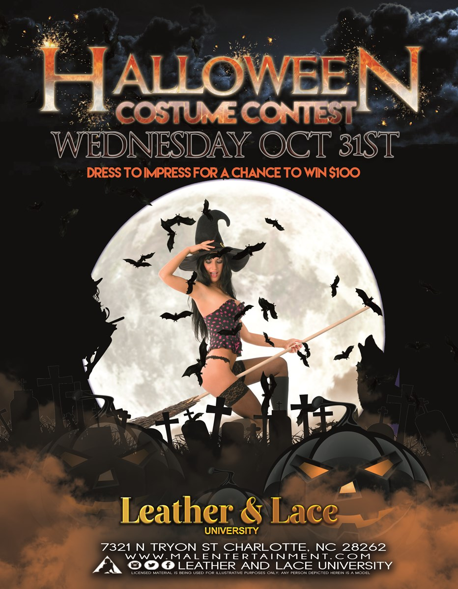 halloween costume contest // 10/31 at leather & lace university