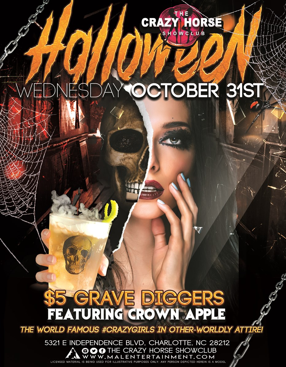 halloween at the crazy horse showclub in charlotte, nc