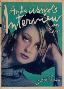 Jodie Foster by Andy Warhol on the cover of Interview Magazine, 1977