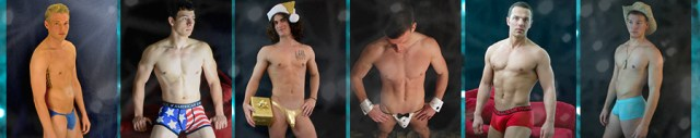 Underwear poses for male strippers