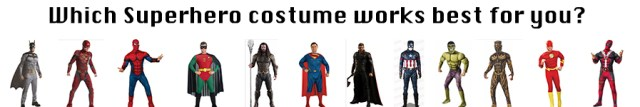 Superhero costumes for men