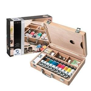 maletin de pinturas y pinceles