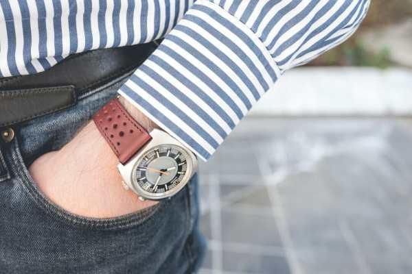 bracelet montre rallye cuir veau bordeaux dt2