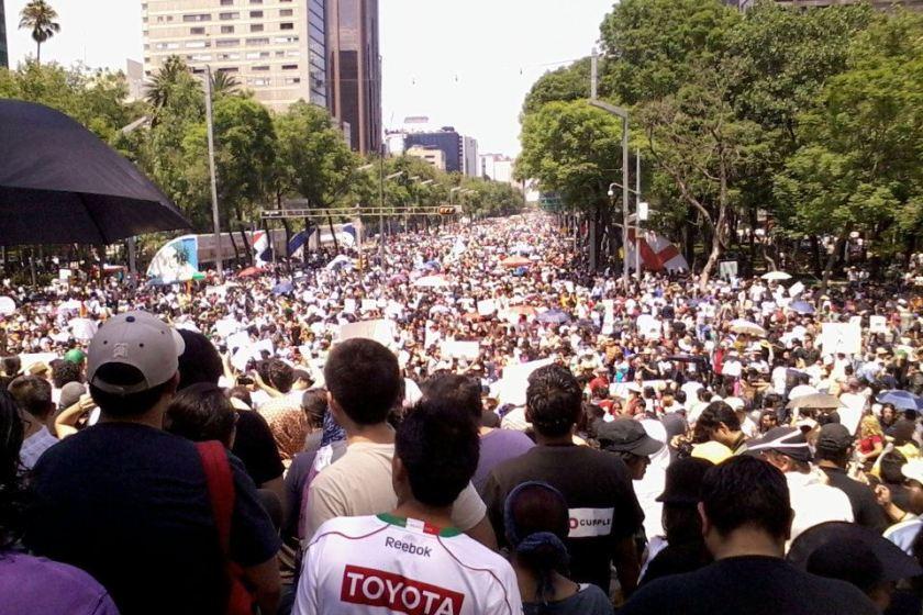 #YoSoy132 Estudiantes a la calle contra EPN