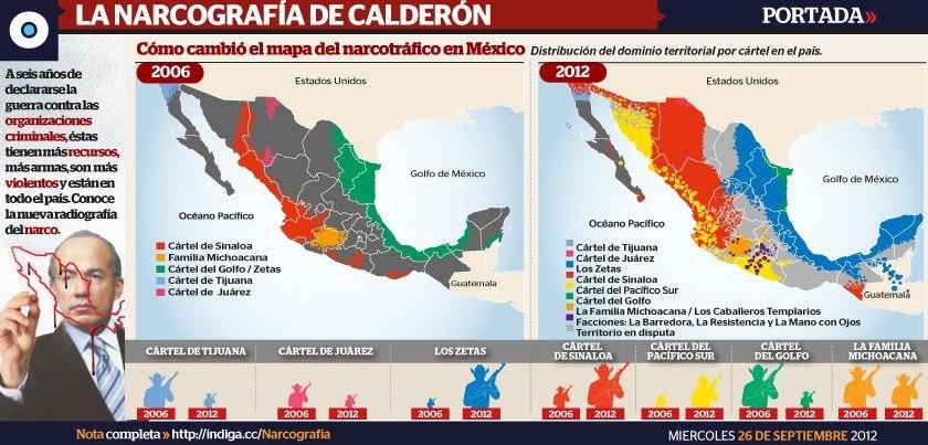 El avance del narcotráfico en el sexenio de Calderón