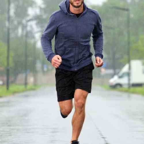 correr chuva