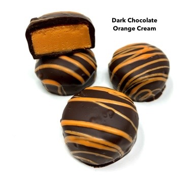 Dark Chocolate Citrus Creams Candy