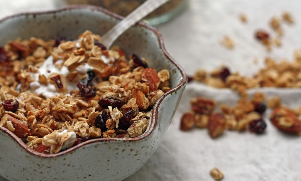 nutty maple granola