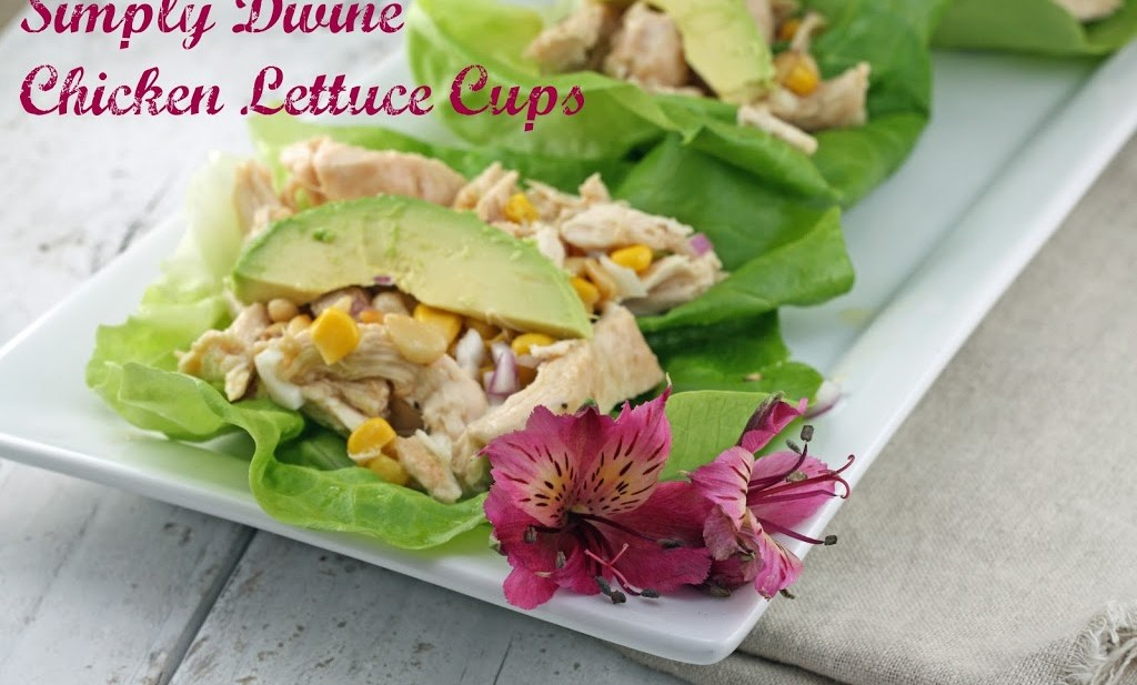 simply divine chicken lettuce cups
