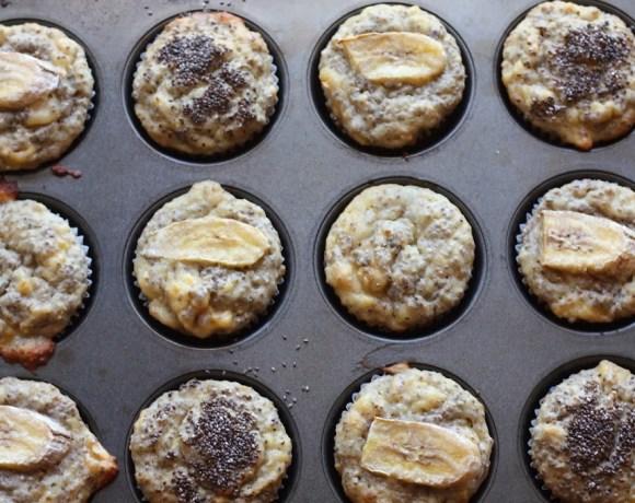 chia seed + banana muffins