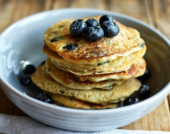 old-fashioned blueberry pancakes [gluten- and soy-free]