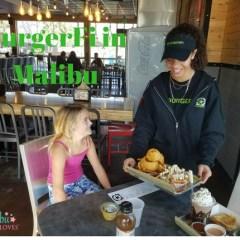 Lunch at BurgerFi in Malibu