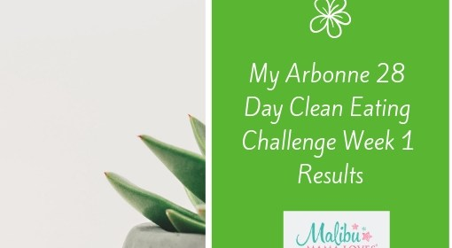My Arbonne 28 Day Clean Eating Challenge Week 1 Results