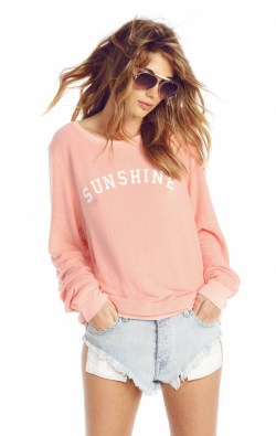 The Wildfox Sunshine & Wine Baggy Beach Jumper