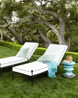 Avery Neoclassical Chaise Lounge
