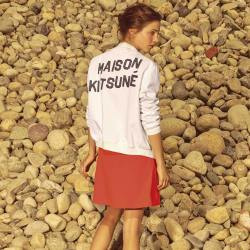 Maison Kitsune Womens Teddy Jacket