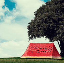 What a Melon 2-Person Watermelon Print Tent