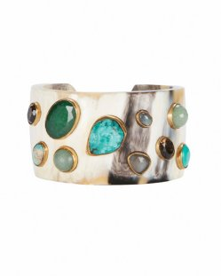 Ashley Pittman Basi Turquoise Stone Horn Cuff