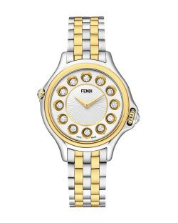 Fendi Timepieces 38mm Crazy Carats 18K Gold & Stainless Steel Watch