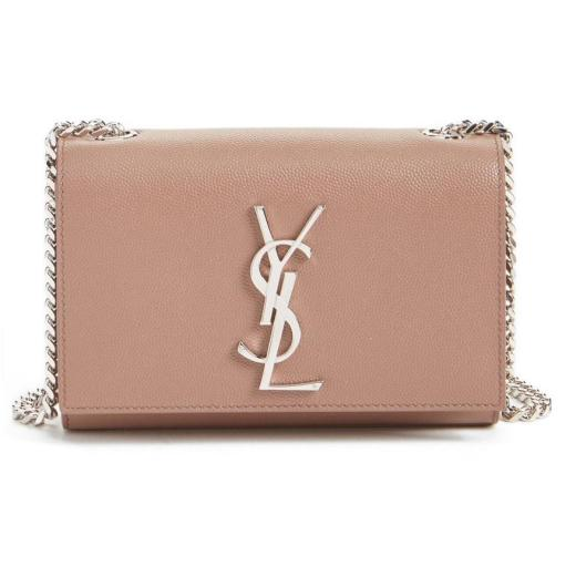 Saint Laurent Small Monogram Leather Crossbody Bag