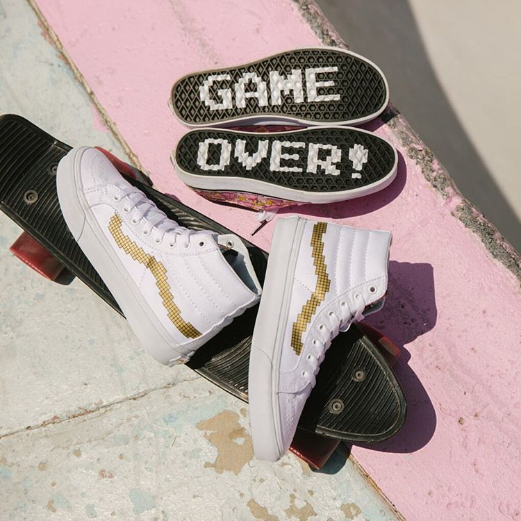c61eb76896 Vans SK8-Hi Slim X Nintendo Game Over Shoes