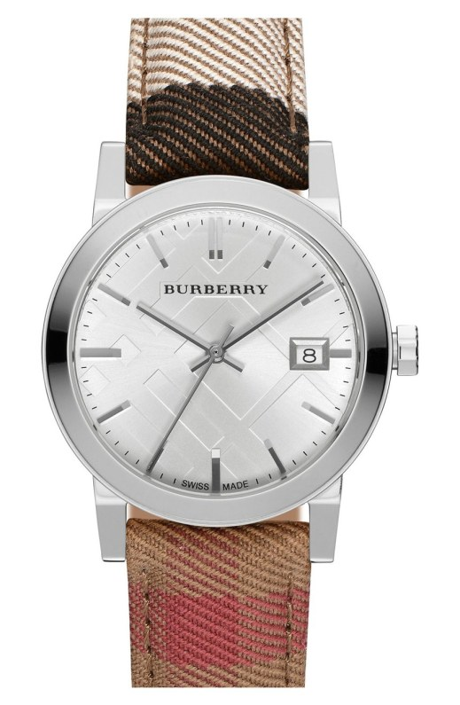 Burberry 'The City' Woven Strap 34mm Womens Watch