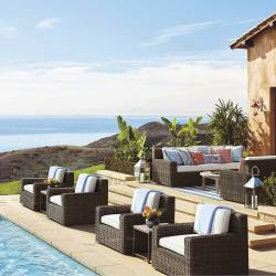 Hyde Park Ocean Grey Finish Outdoor Seating Collection