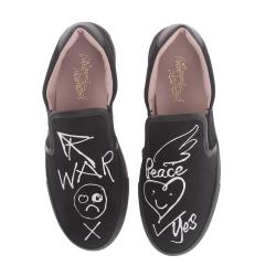 Vivienne Westwood Slip-On Trainer War and Peace Womens Shoes