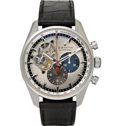 Zenith El Primero Chronomaster 1969 Stainless Steel and Alligator Mens Watch