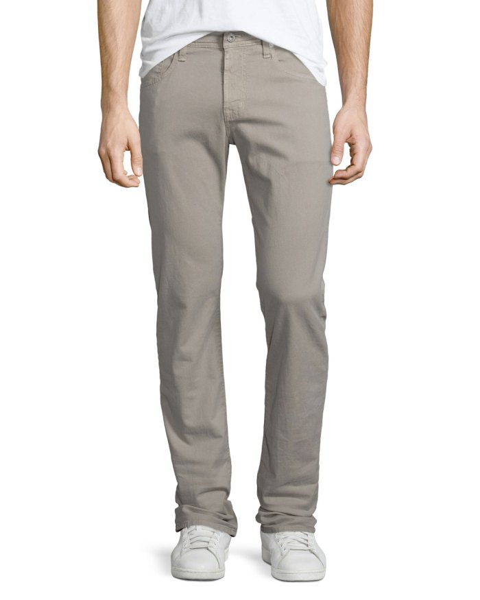 AG Adriano Goldschmied The Matchbox Stucco Mens Slim-Fit Jeans