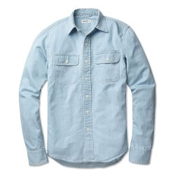 Buck Mason Chambray Mens Work Shirt