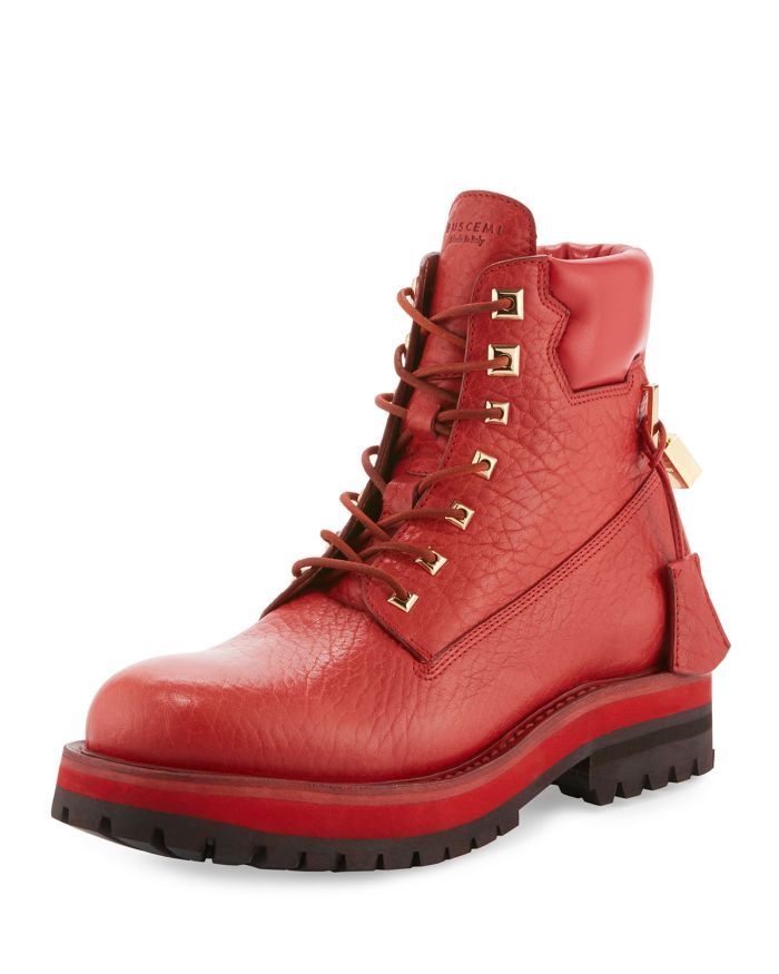 Buscemi Site Leather Lace-Up Hiking Boots