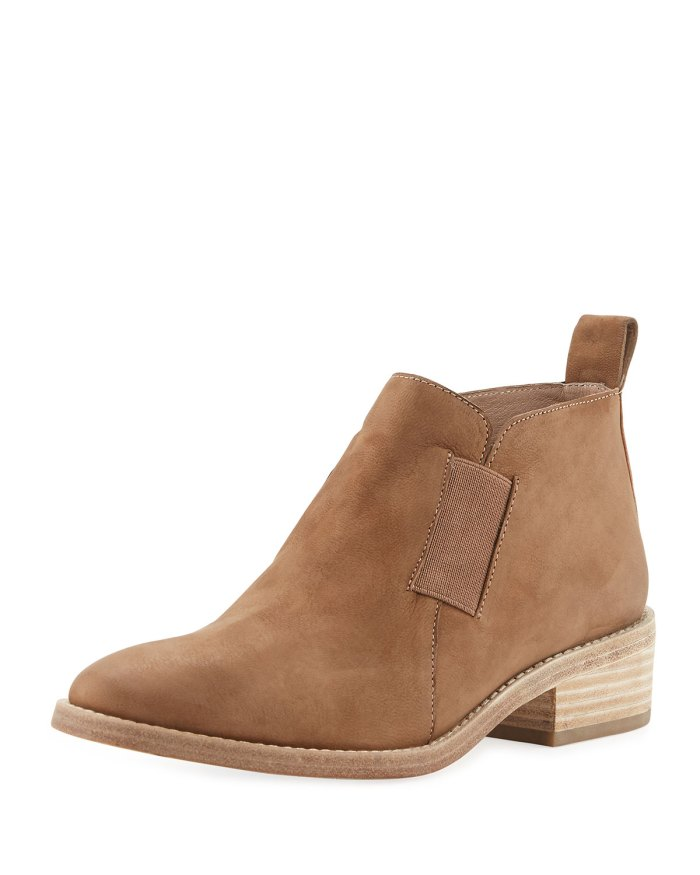 Eileen Fisher Mood Nubuck Flat Bootie Shoes