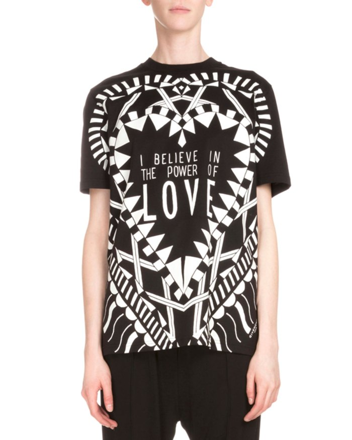 Givenchy Short-Sleeve Love Womens Graphic Tee