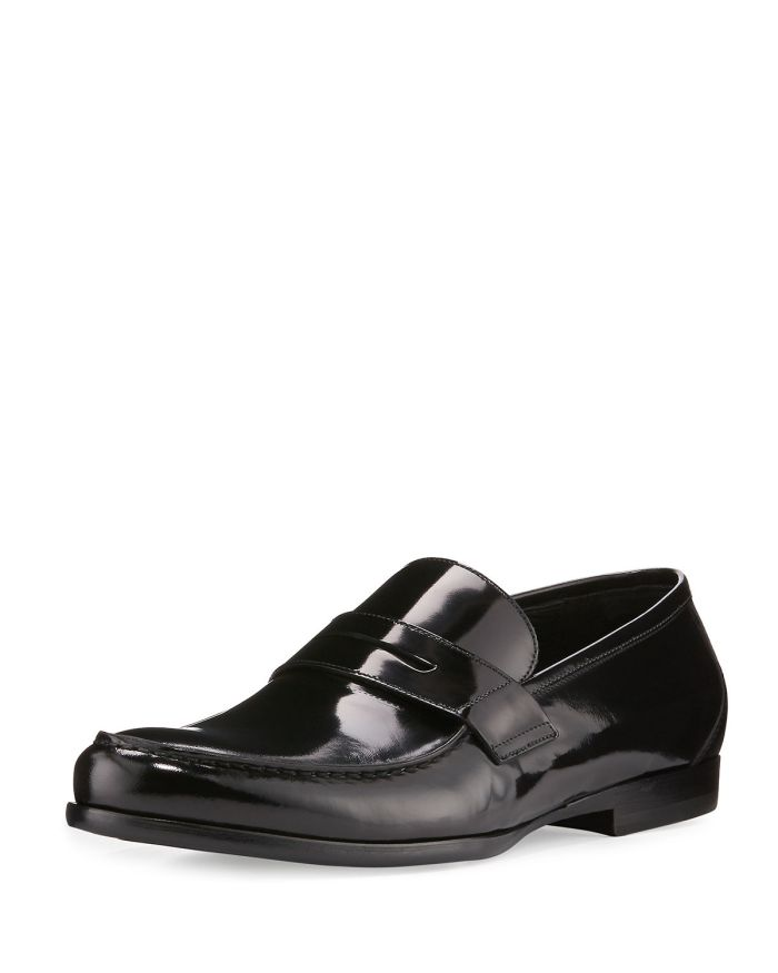 Harrys of London James Gloss Calf Leather Penny Loafer