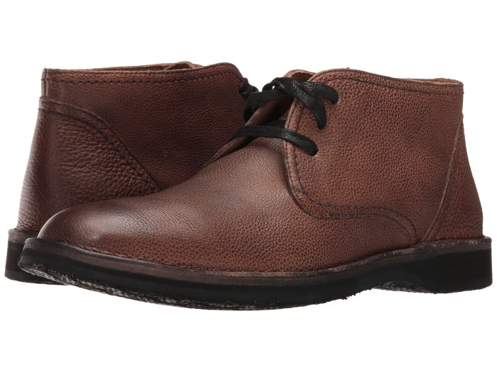 John Varvatos Mens Hipster Chukka Dark Brown Shoes