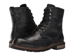 John Varvatos Star Strummer Winter Wing Tip Mineral Black Boots