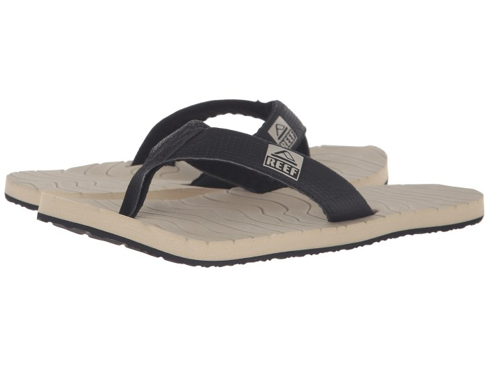 Reef Roundhouse Black & Tan Sandals