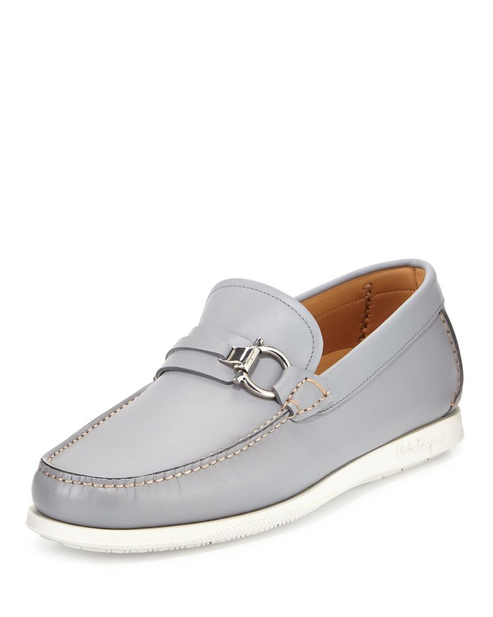 Salvatore Ferragamo Lorien Leather Loafer on Rubber Sole