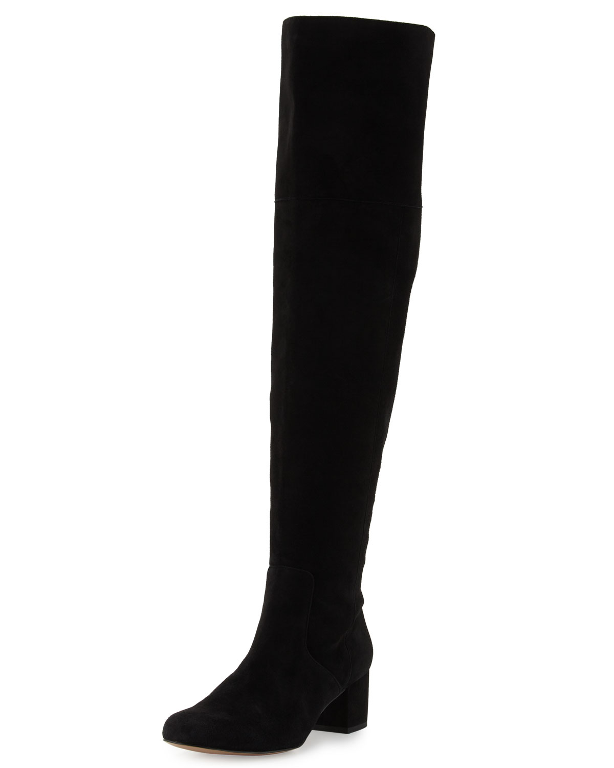 b51be54276341 Sam Edelman Elina Black Suede Over-the-Knee Boot