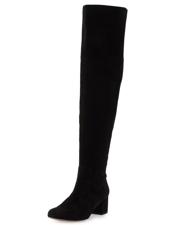 Sam Edelman Elina Black Suede Over-the-Knee Boot