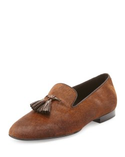 TOM FORD Chesterfield Calf Hair Tassel Loafers