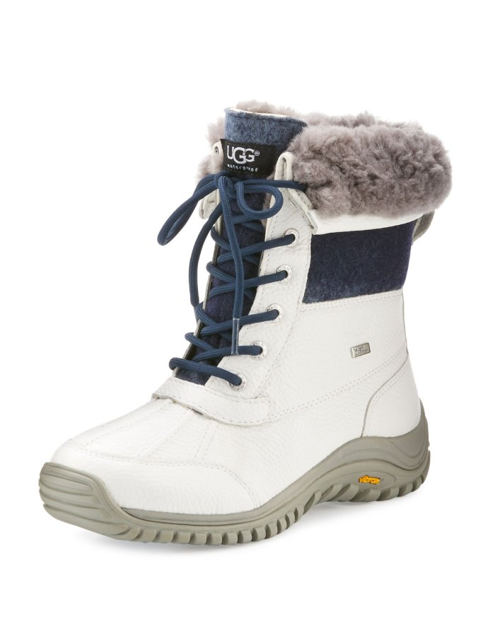 UGG Adirondack II White Leather Hiker Boots