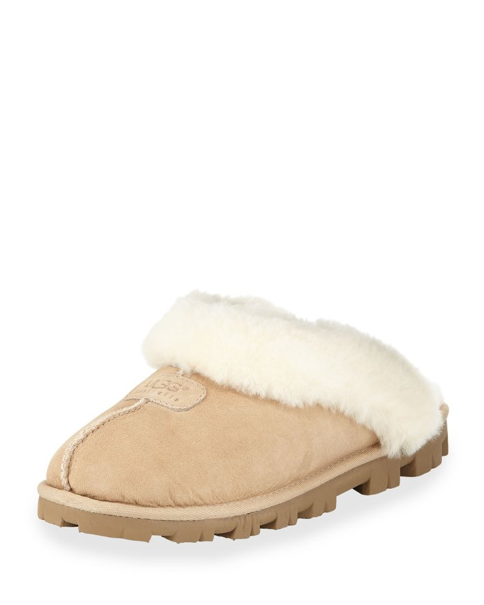 UGG Shearling Sand Mule Slippers