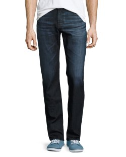 AG Adriano Goldschmied Protégé Hot Spring Dark Indigo Straight-Leg Denim Jeans
