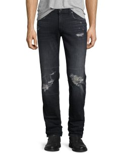 J Brand Tyler Distressed Authentic Super-Slim Jeans
